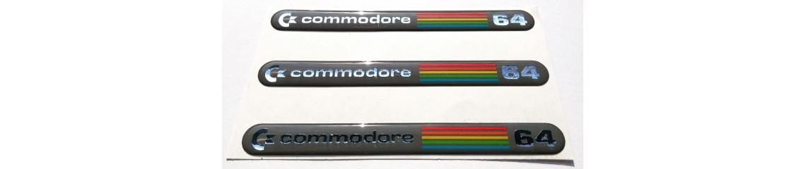 Commodore 64 - 3D sticker (chrome edition)